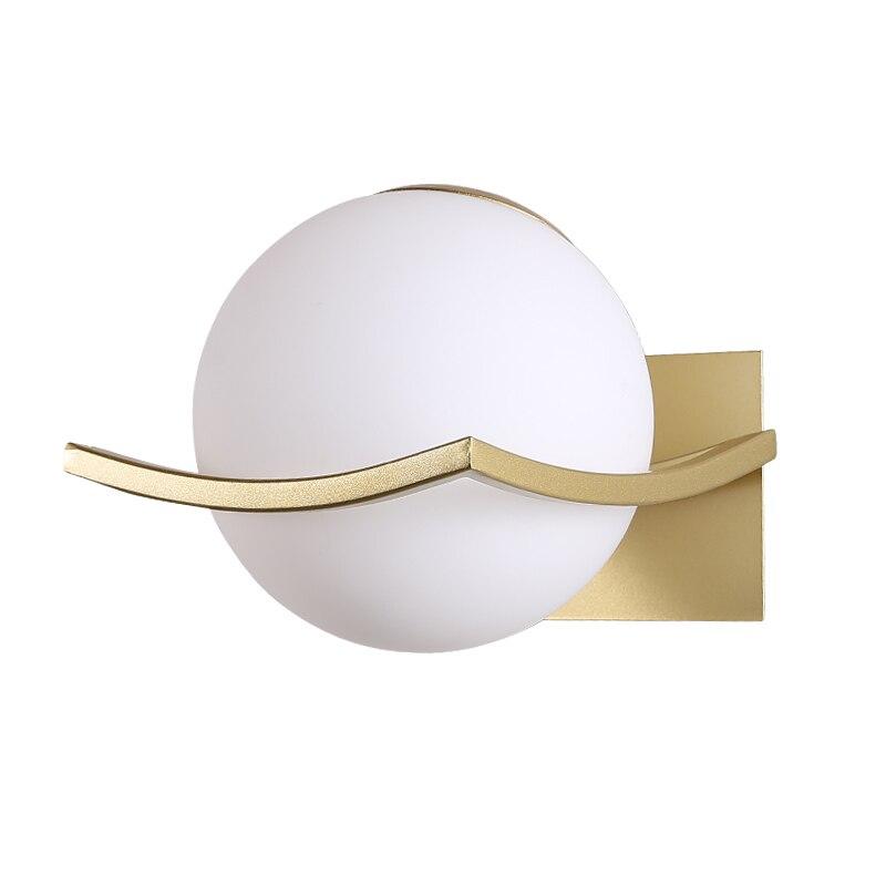 Nordic Foyer Living Room Corridor LED E27 Modern Glass Ball Wall Lamp Sconce Led Bedroom Wall Light Fixture for Home Decoration