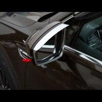 Für Tiguan mk2 2016 2017 2018 ABS Kunststoff Auto Seite Rückspiegel Sonnenblende Regen Trim Abdeckung Auto Styling Zubehör 2 stücke Chrom-Styling Kraftfahrzeuge und Motorräder -