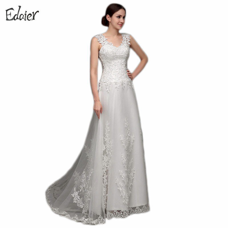 Buy simple beach wedding dress boho lace for Wedding dress appliques suppliers