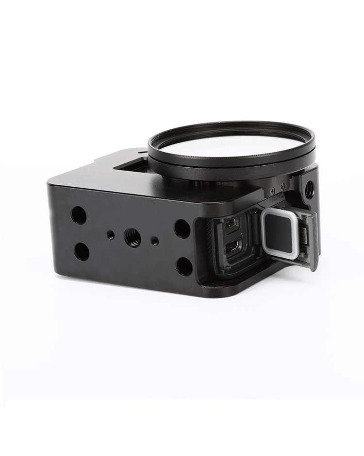 غطاء حماية بمرآة UV + غطاء عدسة + إطار من الألومنيوم بالتحكم الرقمي بواسطة الحاسوب غطاء حماية لغطاء الهاتف المحمول Gopro Hero 5 6 7 ملحقات الكاميرا السوداء # F3547