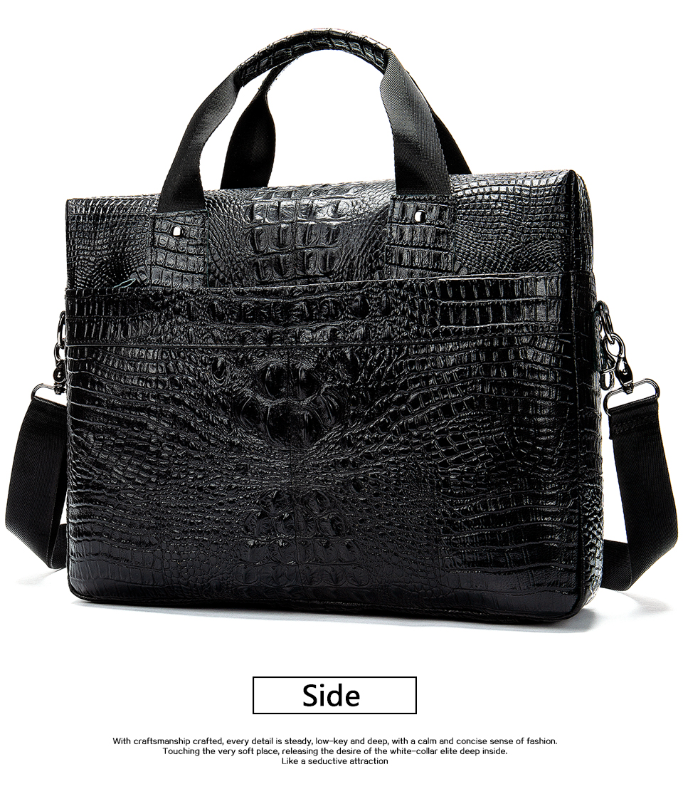 HTB13nYnXlGE3KVjSZFhq6AkaFXad MVA Male briefcase/Bag men's genuine leather bag for men leather laptop bags office bags for men Crocodile Pattern handbag 5555