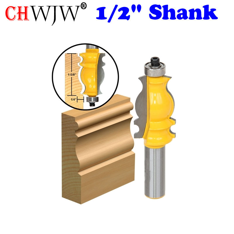 """1PC arhitektuurne vormimisruuter - 1/2 """"varraste lõikur puidutöötlemise tööriistade jaoks - Chwjw 16131"""