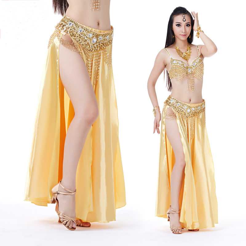 BELLYQUEEN New High Quality New Bellydancing Skirts Training Dress Or Performance Indian Dress Belly Dance Skirt Costume