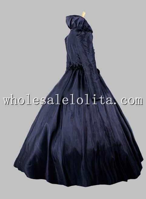Готический Черный Костюм Королевы Викторианского Косплей Венецианский карнавал костюмы с плащом