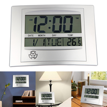 Big sale Digital Indoor/Outdoor Temperature Humidity Meter Home Desk Decoration Clock Hygrometer Thermometer 1xAA Battery FREE SHIPPING