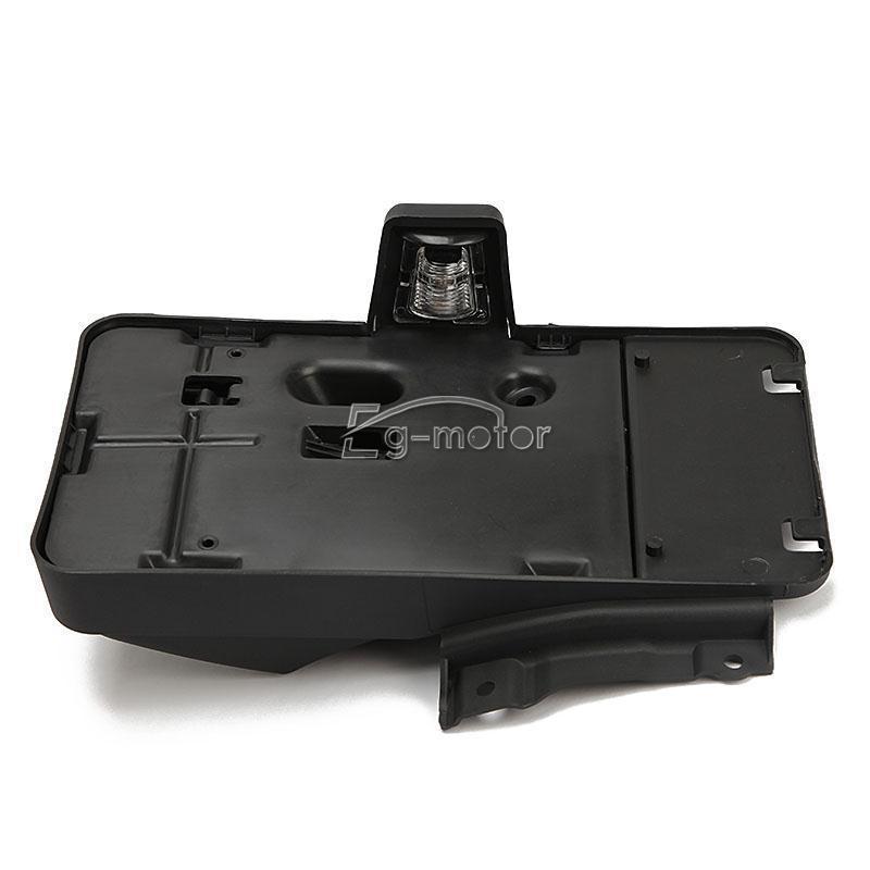 Support de plaque d'immatriculation arrière avec lumière adaptée pour Jeep Wrangler JK JK illimité 68064720AA