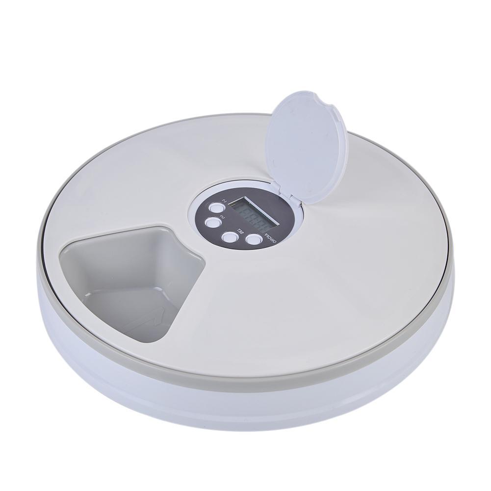 Bol automatique pour animal de compagnie de Distribution 6 Grilles Compartiments Alimentaires Pour Chien Chat Lapin Et Petits Animaux Aliments Secs Et Humides Plaque - 2