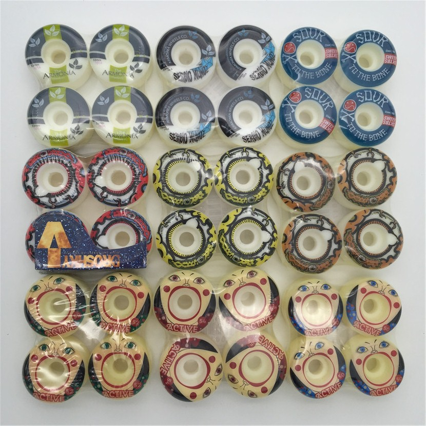 4 unids/set 51-54mm marca skatemental amarillo color cambiado ruedas Pro stock wheel para oferta especial con buen Precio