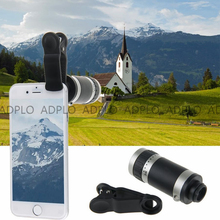 Cheapest prices Generic Clip-on Cell Phone Lens, 8X Telescope + Universal clip, Optical Zoom Lens Micro Mobile Phone Lens , Telescope Camera