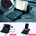 Car Phone Holder Bracket+360 Rotating Sucker Bracket+Soft Silicone Anti-slip Map