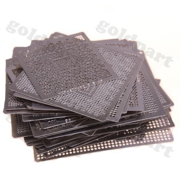 110pcs Graphics Card Directly Heat BGA Reballing Stencils Template Set For ATI NV XBOX 360 PS3 Chip Rework Repair C0161 vg 86m06 006 gpu for acer aspire 6530g notebook pc graphics card ati hd3650 video card