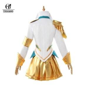 Image 3 - Косплей костюм ROLECOS с надписью «Battle академия люкс», костюм для косплея «LoL Lux», «люкс престижное издание», женская одежда, юбка на хэллоуин для девушек