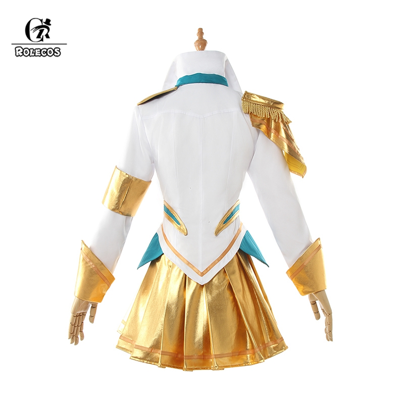 Image 3 - ROLEOCS Battle Academia Lux Cosplay Costume LoL Lux Cosplay Lux Prestige Edition Costume Game Women Outfit Halloween Girl Skirt-in Game Costumes from Novelty & Special Use