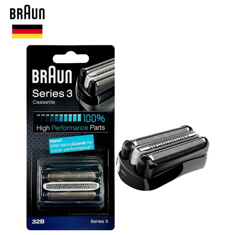 Braun 32B Rasoirs rasoir Cassette de Rechange Pièces Feuille & Cutter (320 330 340 350CC 360 370 380 390CC 5774 5775 5776 cruZer6)