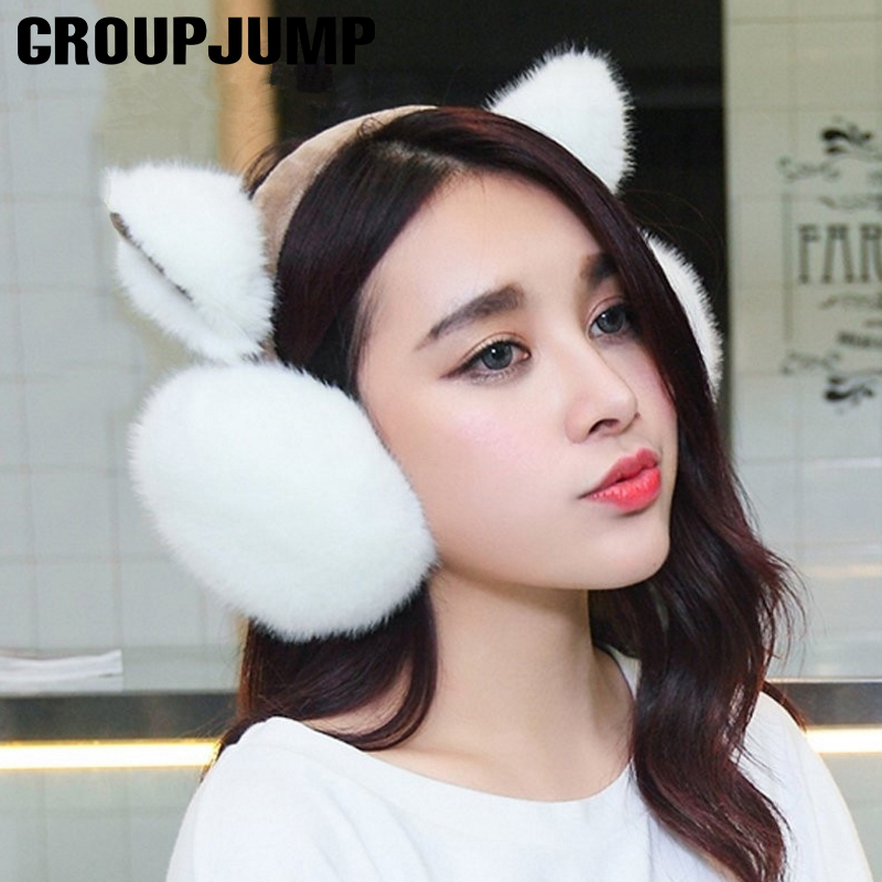 Hello World Mongol Winter Earmuffs Ear Warmers Faux Fur Foldable Plush Outdoor Gift