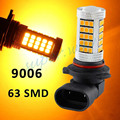 Yellow/Amber Orange 9006 HB4 63-SMD 63SMD Car Driving Fog LED Bulb Lamp Lens Bright Than 33 SMD Light White Red Ice Blue