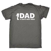 Dad A Sons First Hero T SHIRT Birthday Gift Newborn Baby Pop Birth Birthday Gift