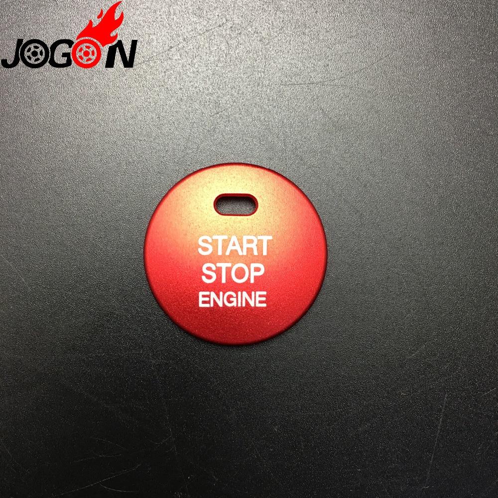 Car Engine Push Start Stop Button Cover Cap Trim Mazda 2 3 6 CX-3 CX-4 CX-5 CX-9 MX-5 Ignition Starter Switch Button knob Sticker