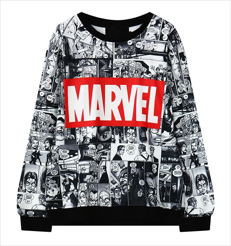 Marvel Moletom Hoodie Sweatshirt Tracksuit Harajuku Black female Sweatwear for Women EXO Kpop BTS Adventure Time Women Hoodies