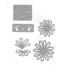 YaMinSanNiO Flower Dies Metal Cutting Dies 2019 for Card Making Scrapbooking Making Craft Embossing Cuts Stencil Background Dies(China)