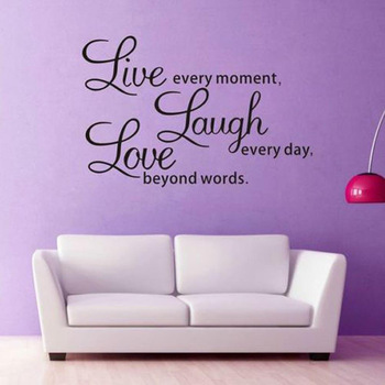 LIVE LAUGH LOVE Quote Vinyl Wall Sticker-Free Shipping Living Room Wall Stickers With Quotes