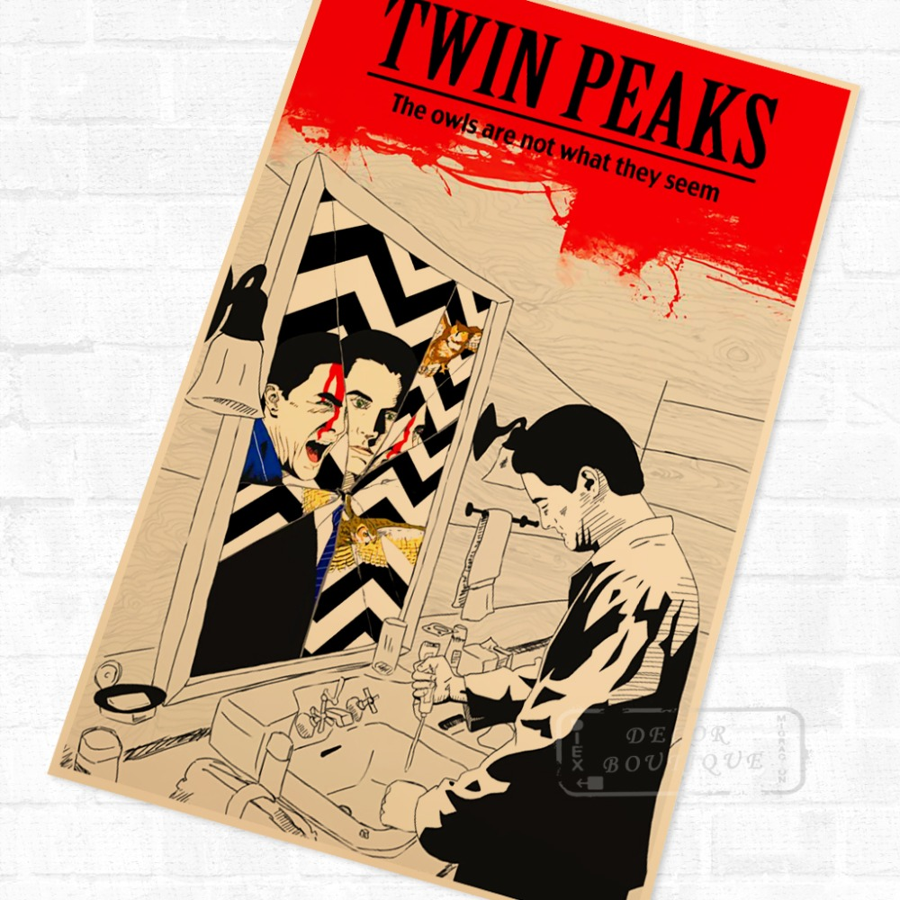 Minimalism Psych Twin Peaks American Horror Canvas Painting Vintage ...