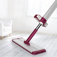 Practical Household Non Hand Washing Floor Mop Soft Microfiber Dust Push Mop Telescopic Mop 4PCS Mop