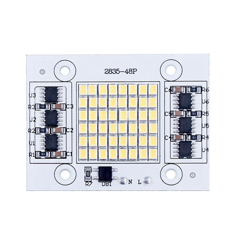 DIY LED SMD Bulb Lamp 20W 30W 50W Light Chip 230V Input Directly Smart IC Fit For DIY LED FloodLight Cold White Warm White honsco e10 1w 3000k 70lm 5050 smd led warm white light screw bulb for diy pair 12v