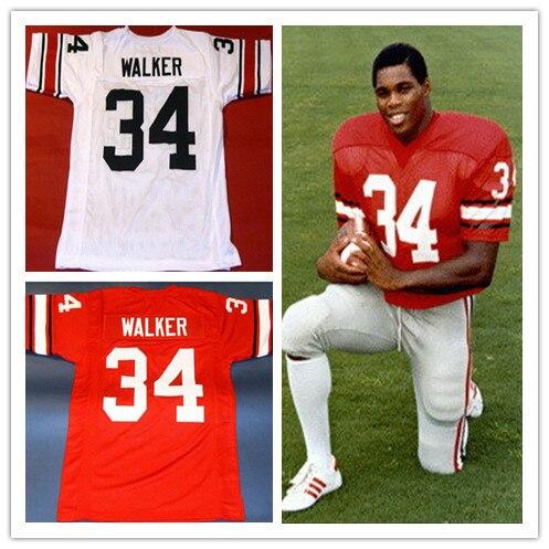 ... Herschel Walker Jersey Georgia Bulldogs 34 Mens Embroidery logos  Throwback Football Jerseys S to XL Red ... 396677a35