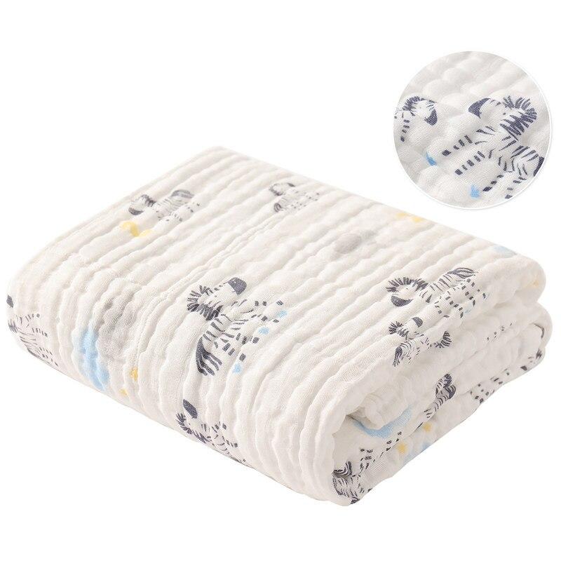 Couverture respirante de coton de serviette de bain de bébé de bande dessinée pour le bébé nouveau-né lange d'emmaillotage
