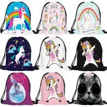 Fashion Multicolor Portable Cartoon Unicorn Shoes font b Bag b font Sport Storage Pouch font b