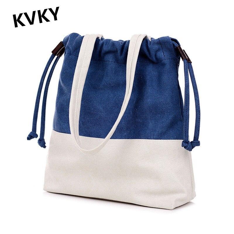 KVKY 2017 New Style Fashion Women Tote Handbag Female Casual Canvas Shopping Bag Shoulder Messenger Bags Crossbody Bag CH086 цена 2016