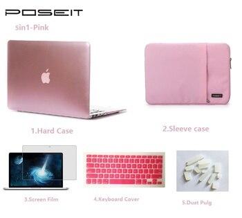 Для Apple Macbook Pro Retina Air Touch Bar 11 12 13 15 дюймов Жесткий Чехол для ноутбука + сумка + чехол для клавиатуры + экран Flim + Пылезащитная заглушка