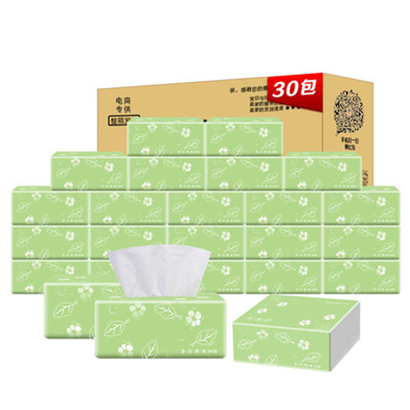 Wood Tissue Paper Towels Family Packs 30 Packets of Tissue Boxes Household 3 Layers of Toilet Paper цена