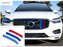 Lapetus Accessories Fit For VOLVO XC60 2018 2019 Colorful Front Head Grille Grill Decor Strip Molding Cover Kit Trim 3 Pcs