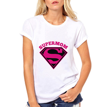 Super Mom womens t shirts graphic letter printed tee shirt femme summer short sleeve white for mom design lovers basic t-shirt