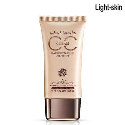 CC крем-консилер увлажняющий отбеливающий Жидкий тональный крем основа для лица Косметика для макияжа - Цвет: Light skin