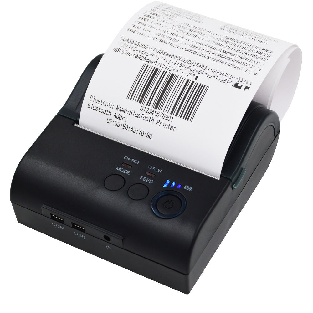 2pcs/lot Portable 80mm Bluetooth Wireless Receipt Thermal Printer For IOS Android Window goojprt mtp ii 58mm bluetooth thermal printer portable rechargeable wireless receipt machine for windows android ios 80mm s
