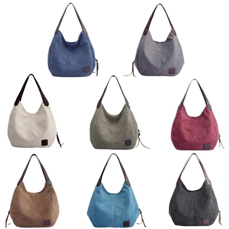 THINKTHENDO New Fashion Women Handbag Shoulder Bags Tote Purse Messenger Hobo Canvas Ba