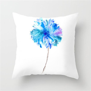 Image 2 - Fuwatacchi Simple Painting Flower Feather Cushion Cover Flamingo Pineapple Leaves Solid Pillow Case Home Decoration Accessories