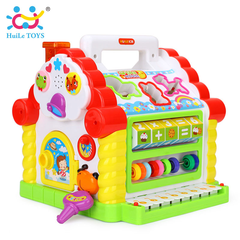 HUILE-TOYS-739-Multifunctional-Musical-Toys-Baby-Fun-House-Musical-Electronic-Geometric-Blocks-Sorting-Learning-Educational-Toys-3