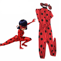 Cosplay Anime Miraculous Ladybug Red Jumpsuit Children Adult Women Halloween Carnival Cosplay Costume J10