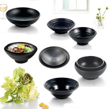 Black Frost Bowl Melamine Dinnerware Big Round Bowl Chain Restaurant A5 Melamine Bowls Melamine Tableware Noodle Bowl Wholesale