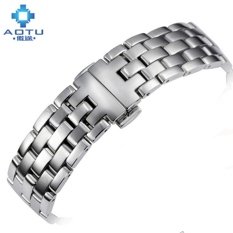 20mm hommes en acier inoxydable bracelets de montre pour Tissot T97 femmes 14mm bracelet de montre pour T97 métal bracelet de montre Motre sangle pour femmes hommes
