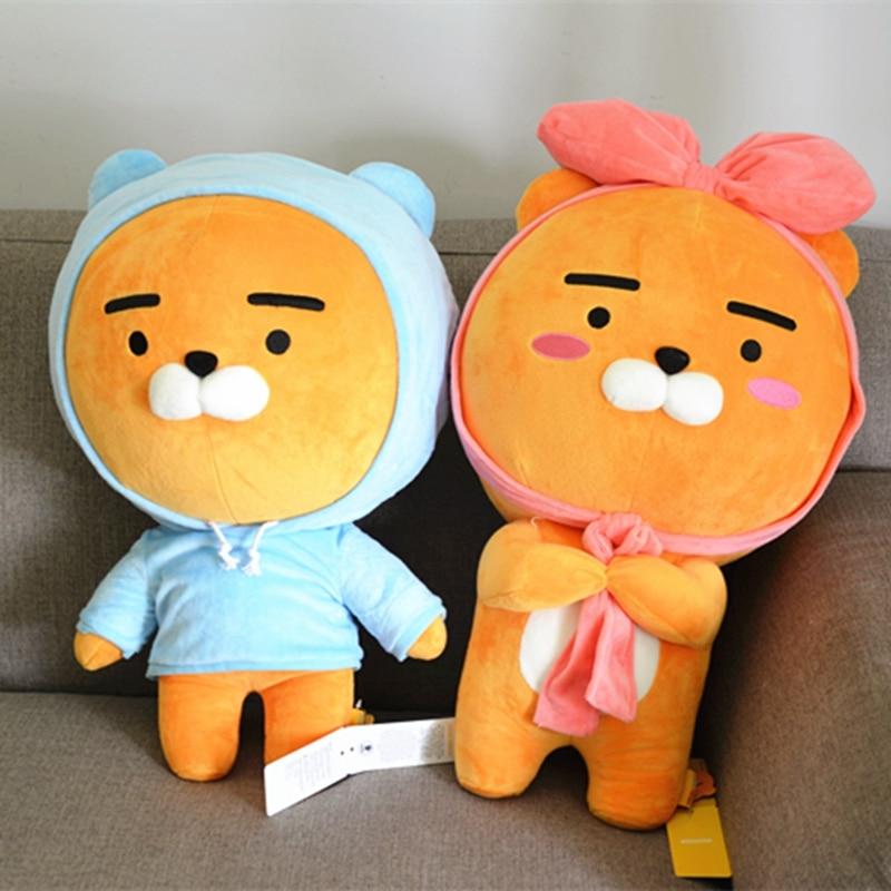 Kawaii Kakao Friends Plush Lion Doll Stuffed Soft Animal Ryan Plush Toy Lovely Valentine's Gift for Kids Children Lover 60cm