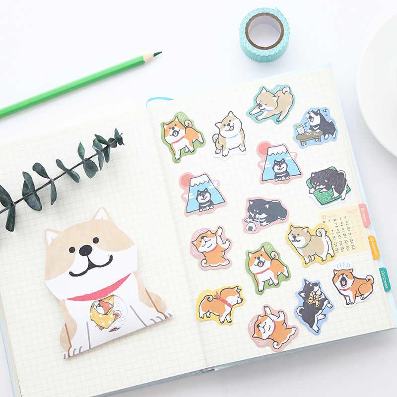 Yaratıcı sevimli Shiba Inu köpek Dekoratif Washi Çıkartmalar Scrapbooking Sopa Etiket Günlüğü Kırtasiye Albümü Çıkartmalar