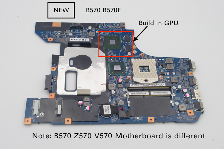 Tested NEW 48.4PA01.021 LZ57 notebook mother board For <font><b>LENOVO</b></font> B570 <font><b>B570E</b></font> laptop motherboard GT410 1GB gpu image