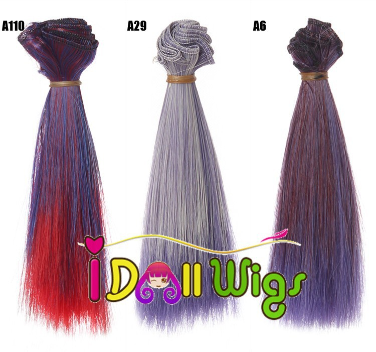 Quality In Free Shipping Wholesales Pure Color Hair Extension 15*100cm Weaving Weft For Bjd Doll Hair Diy Excellent