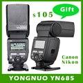 YONGNUO YN685 Wireless 2.4G HSS TTL/iTTL Speedlite Flash for Canon Nikon support YN560IV YN560-TX RF605 RF603 II YN685C YN685N