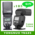 Yongnuo yn685 inalámbrica 2.4g hss ttl/ittl speedlite de destello para canon nikon apoyo yn560iv yn560-tx rf605 rf603 ii yn685c yn685n